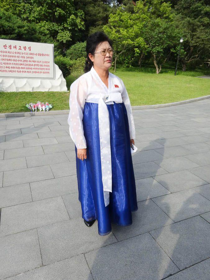 Korean Woman In Traditional Dress